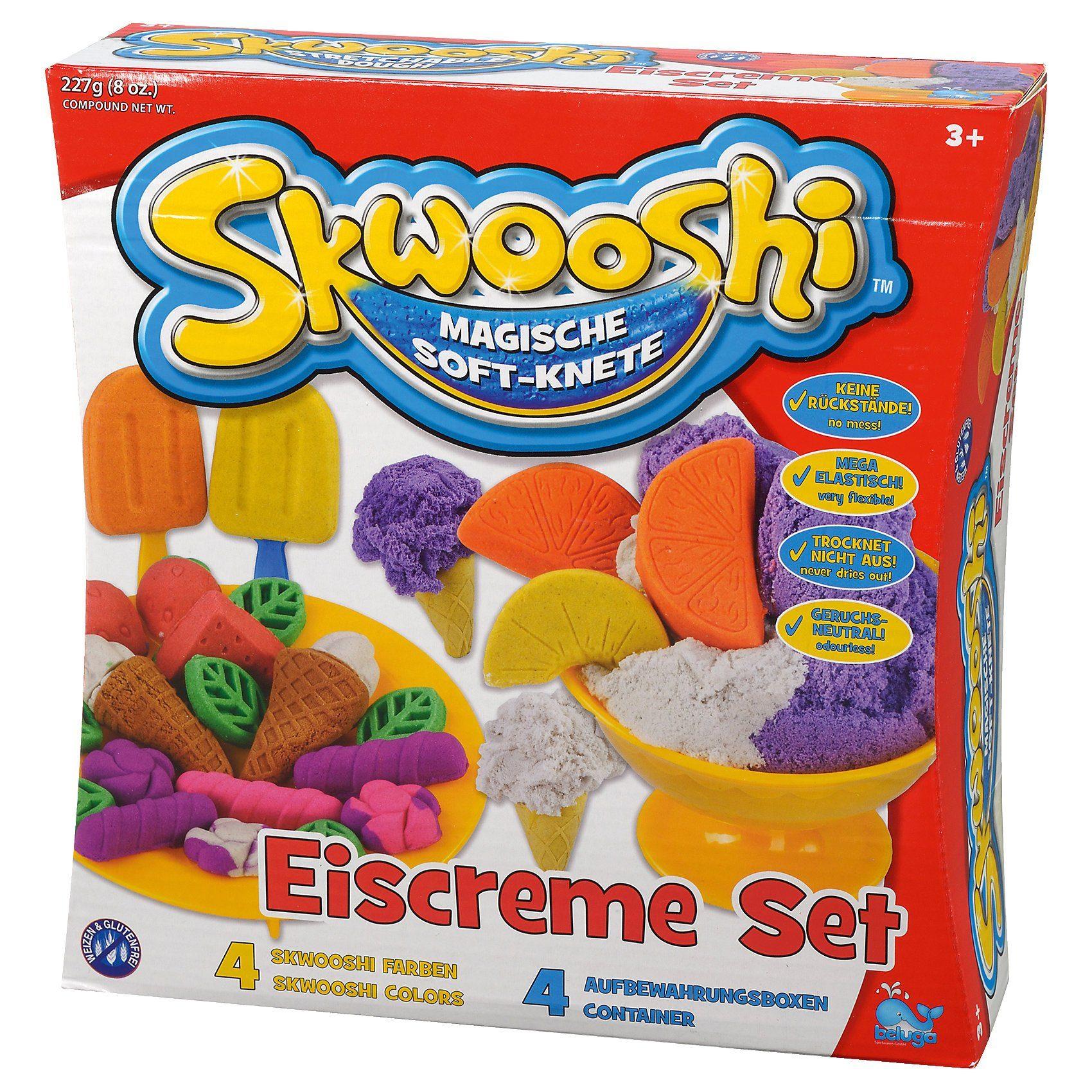 Beluga Skwooshi Soft-Knete Eiscremeset