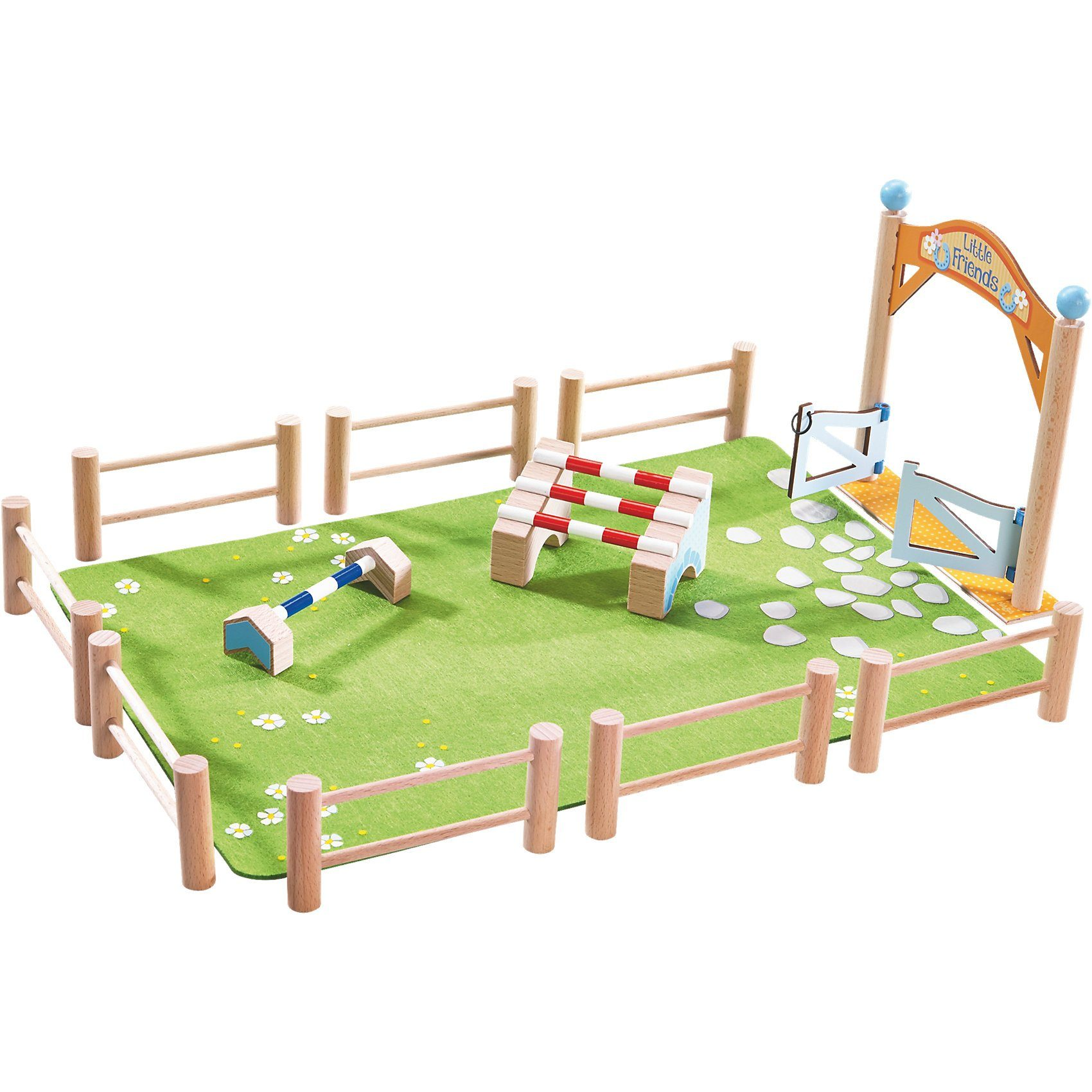 Haba 302166 Little Friends Pferdewelt Springturnier