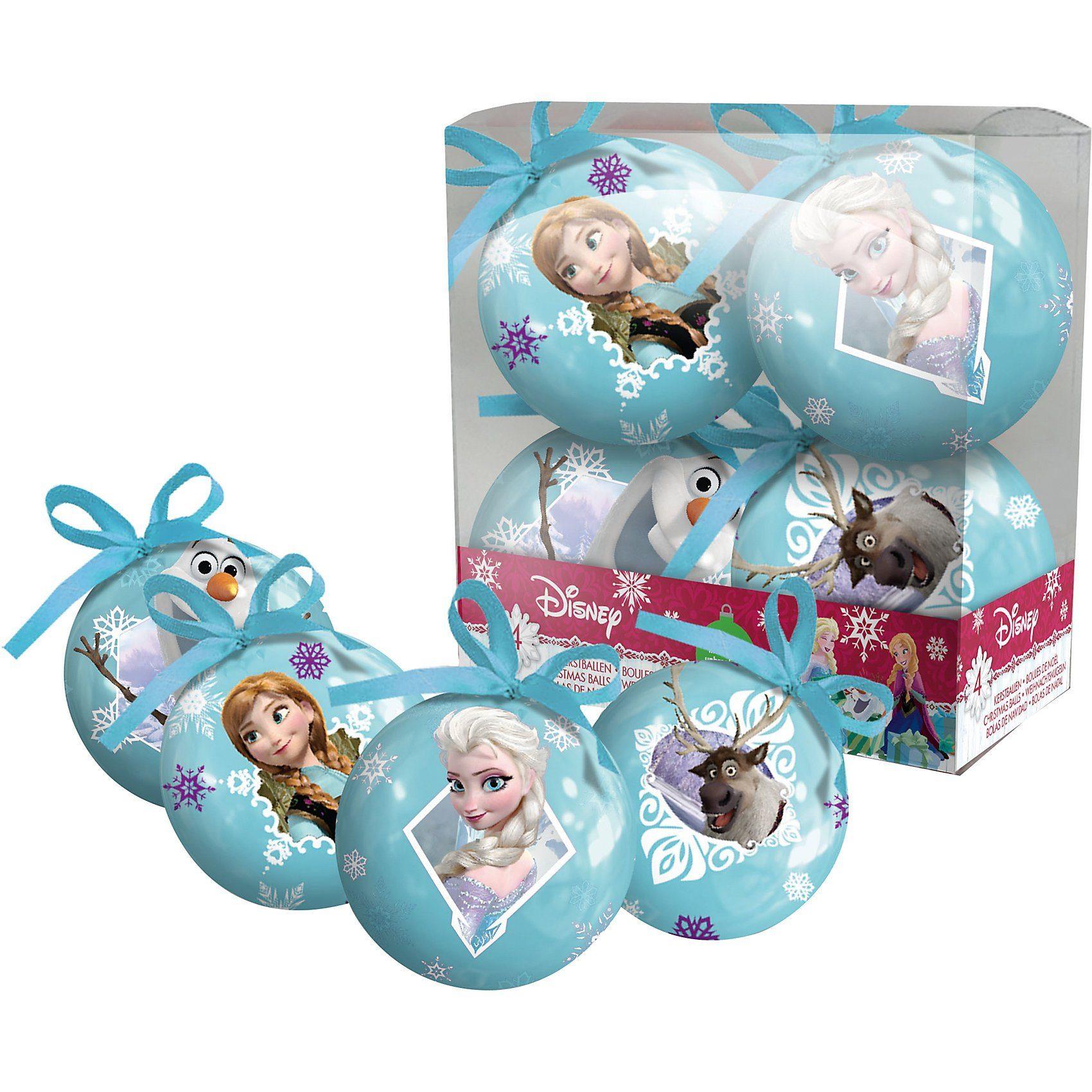 Weihnachtskugeln Disney Die Eiskönigin, 4 Stück