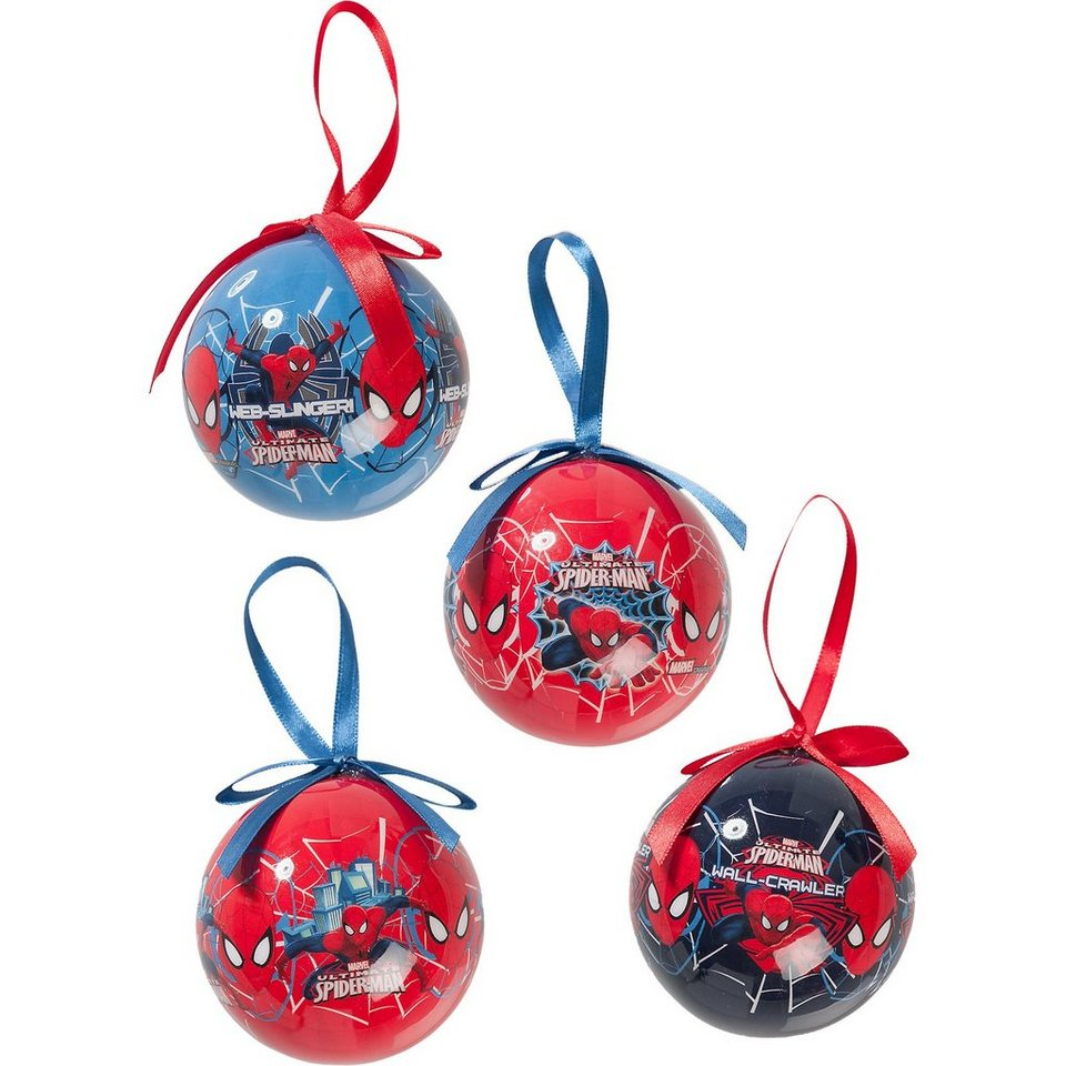 Weihnachtskugeln Spider-Man, 4 Stück