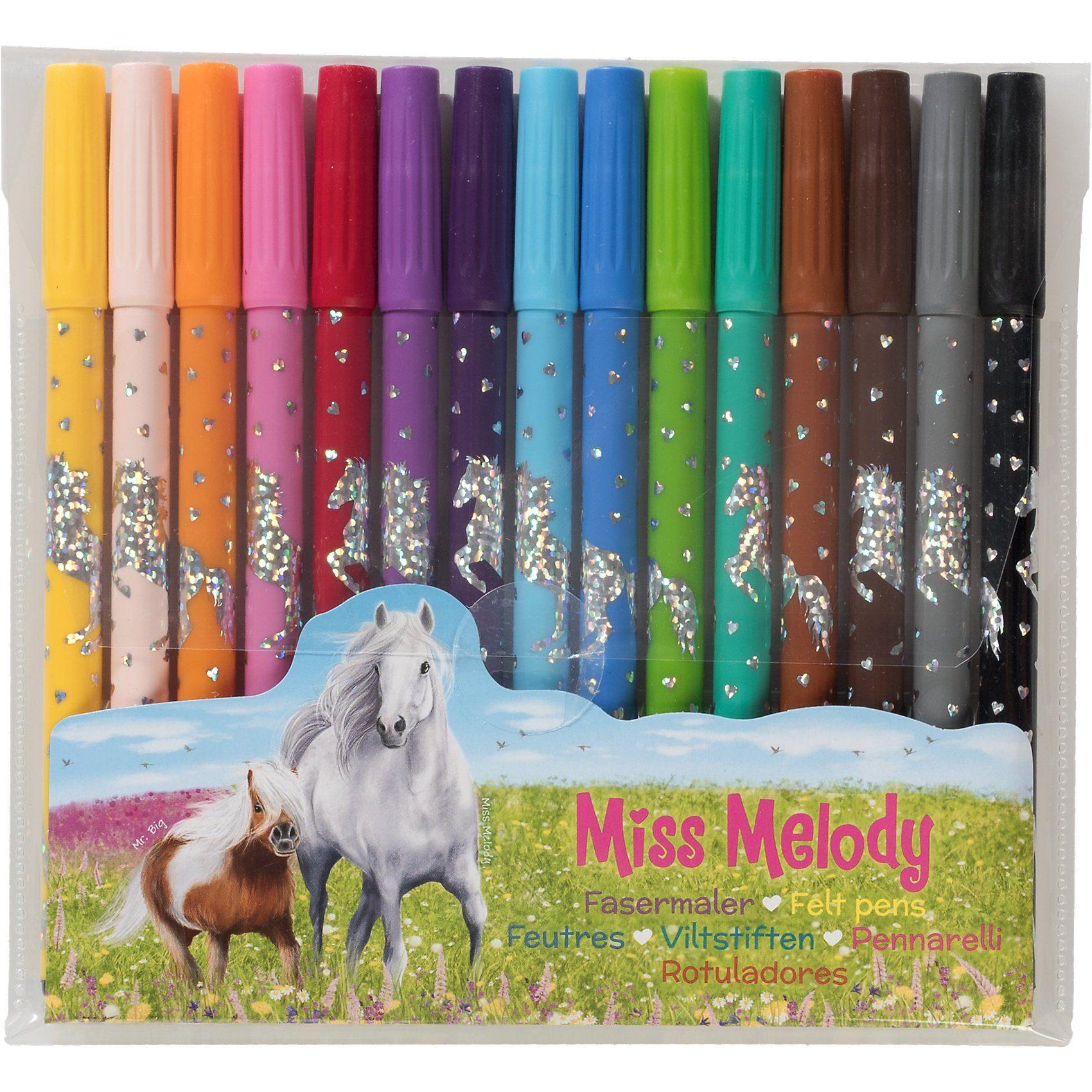 Depesche Fasermaler Miss Melody, 15 Farben