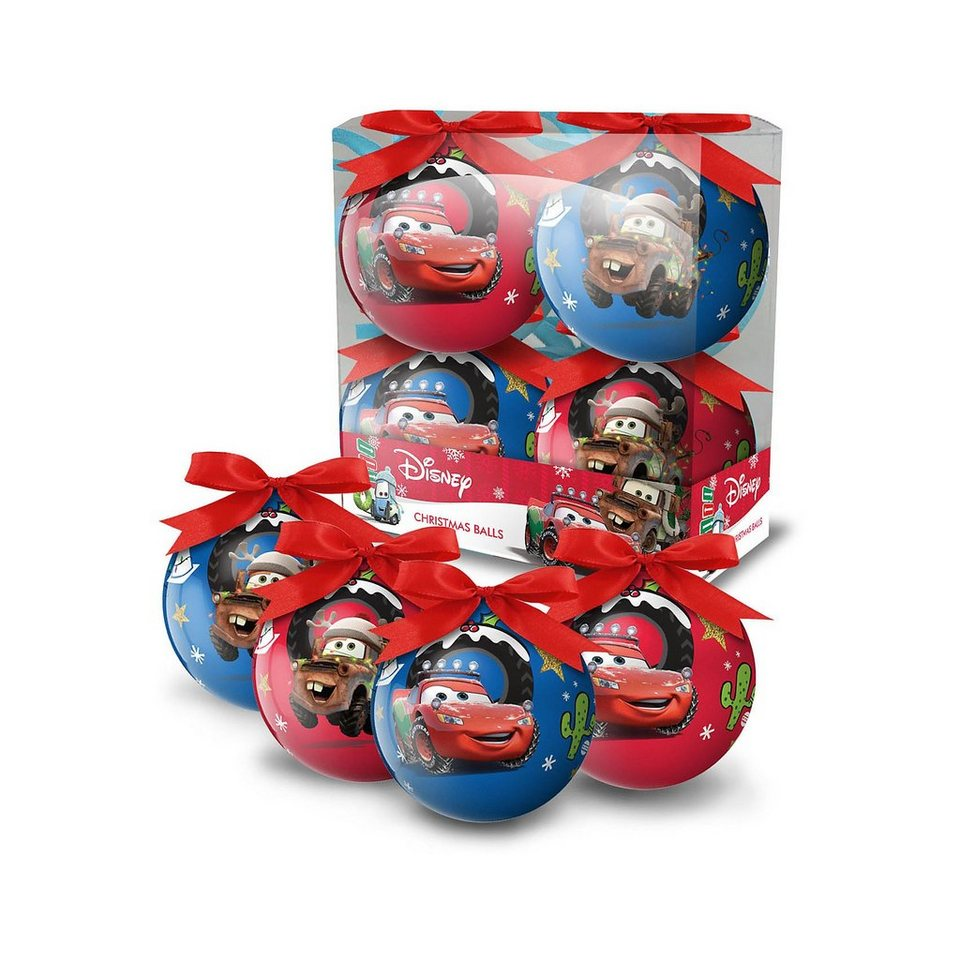 frajodis Weihnachtskugeln Disney Cars, 4 Stück | OTTO