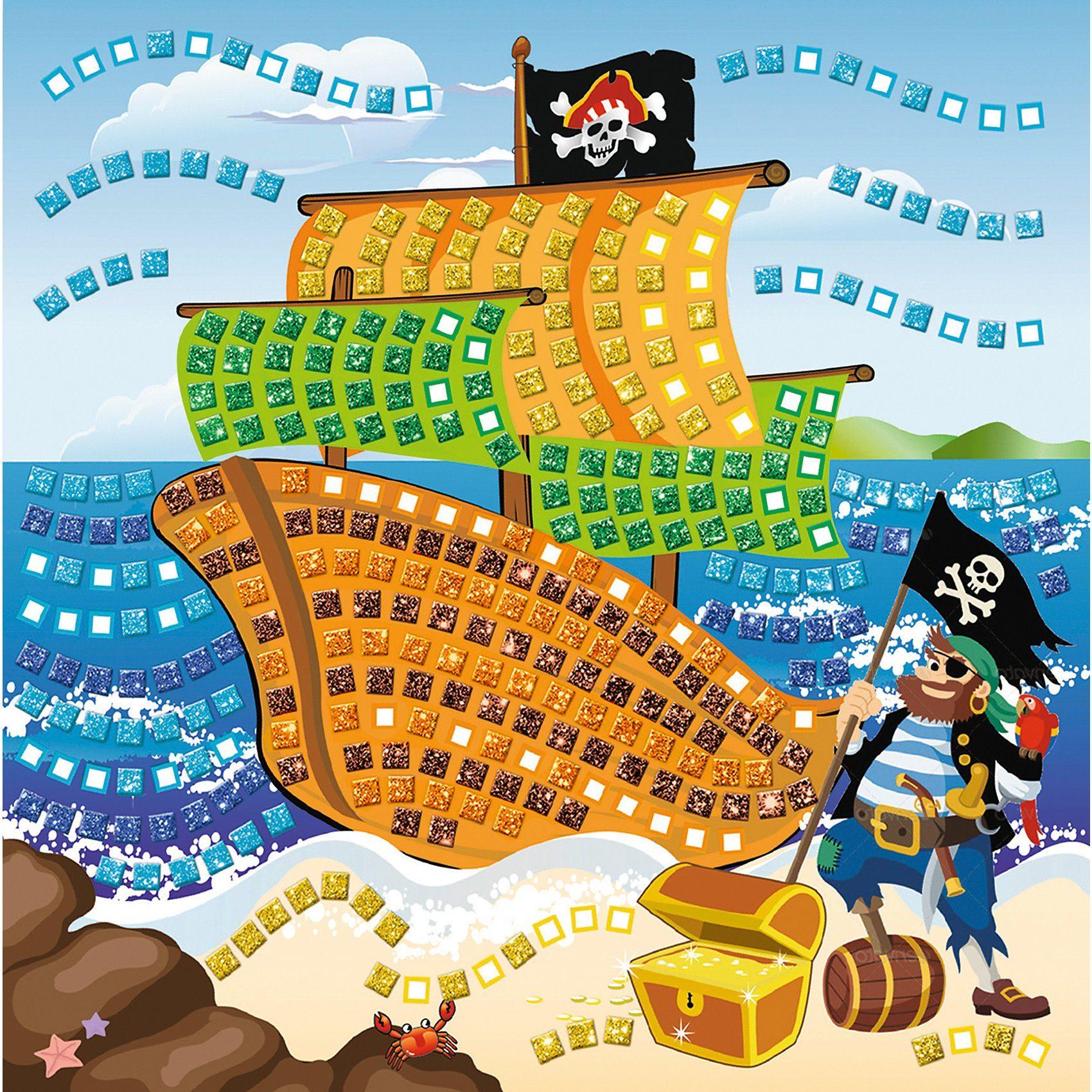 URSUS Moosgummi Mosaik Glitter Pirat