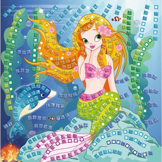 URSUS Moosgummi Mosaik Glitter Meerjungfrau