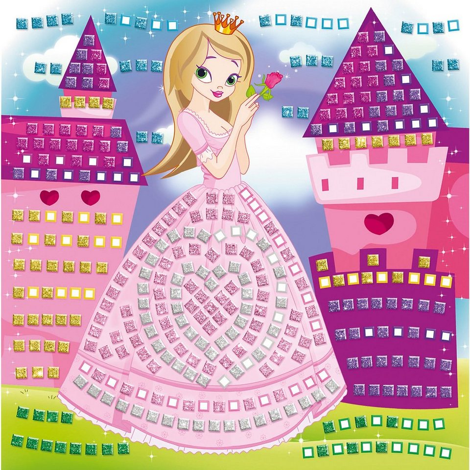 "URSUS Moosgummi-Mosaik ""Glitter"", ""Prinzessin"""