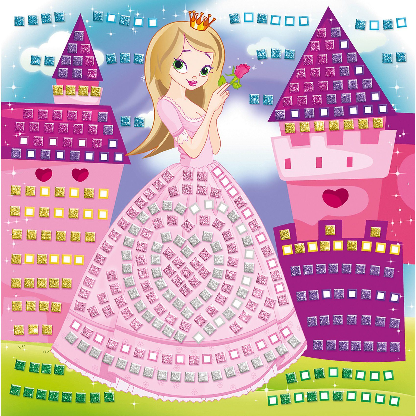 URSUS Moosgummi Mosaik Glitter Prinzessin