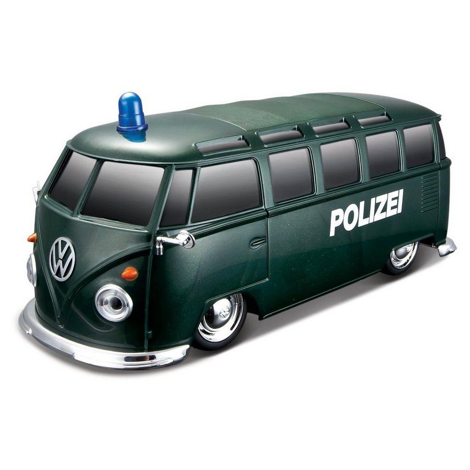 maisto rc fahrzeug vw bus polizei mit licht sound online kaufen otto. Black Bedroom Furniture Sets. Home Design Ideas