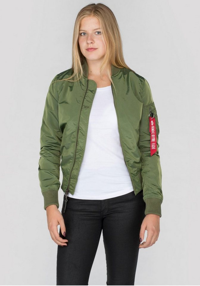 Alpha Industries Bomberjacke »MA-1 TT Wmn« in olivgrün