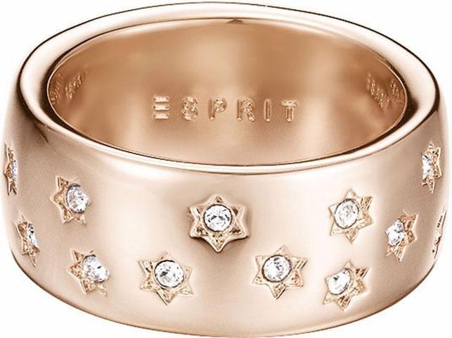 Esprit Fingerring »ESPRIT-JW52885, ESRG02691C« mit Strasssteinen in roségoldfarben