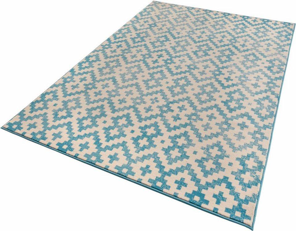 Teppich, Zala Living, »Duo«, gewebt in blau creme