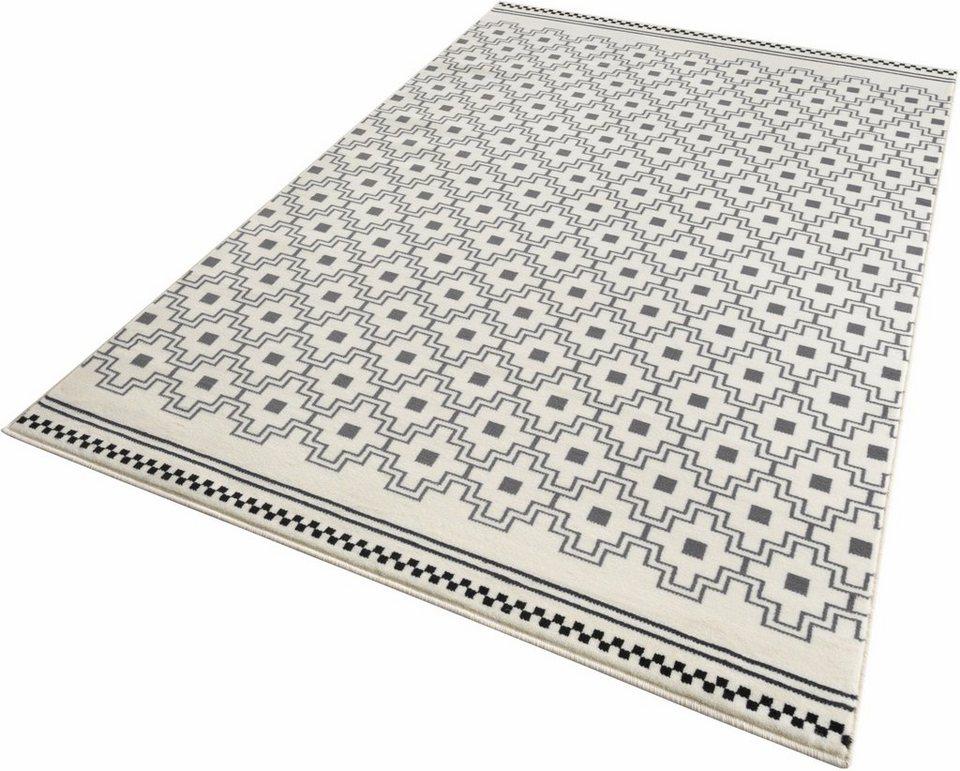 Teppich, Zala Living, »Cubic«, gewebt in grau creme
