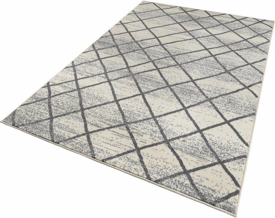 Teppich, Zala Living, »Rhombe«, gewebt in creme grau