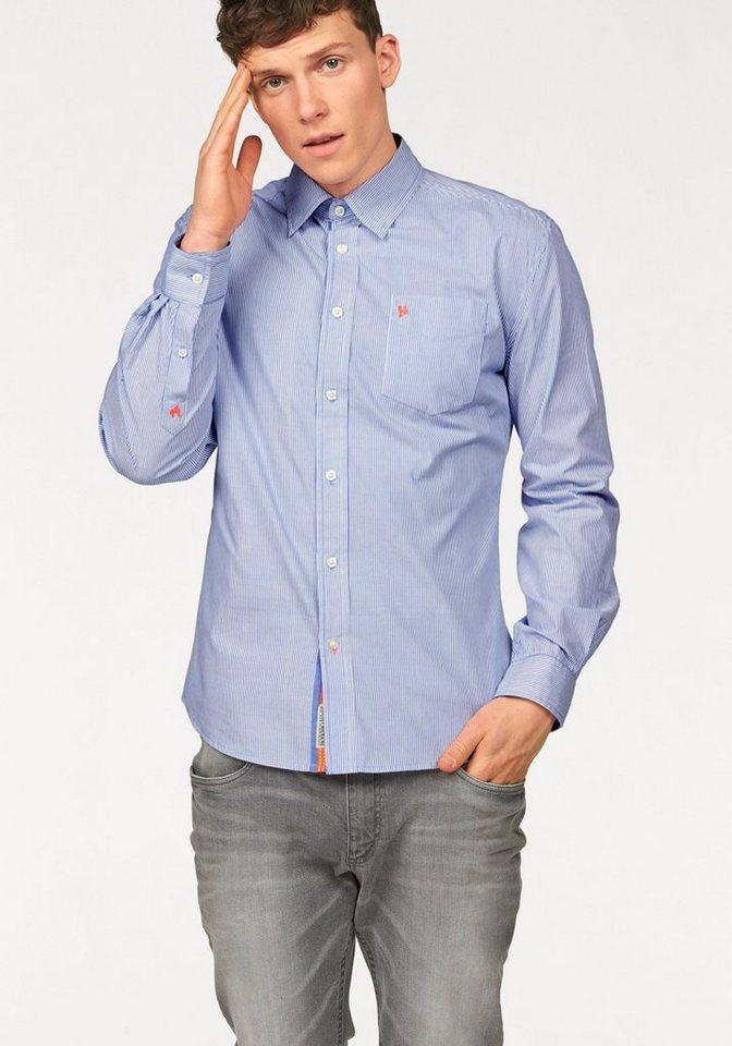 Bruno Banani Hemd in blau-gestreift