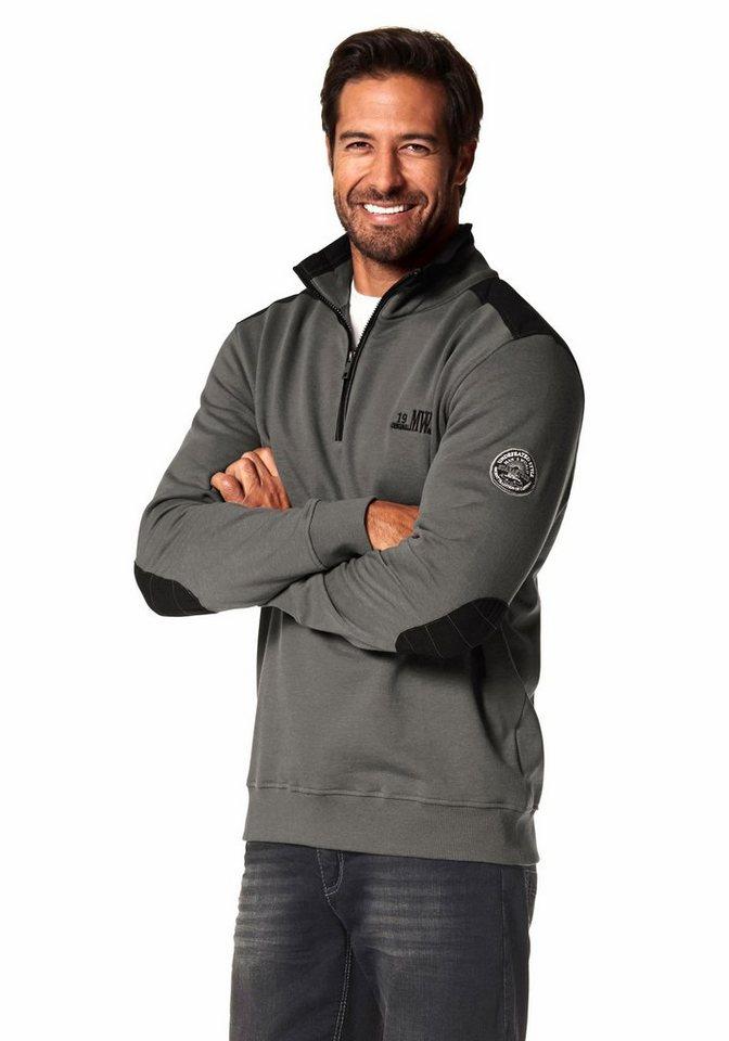 Man's World Sweatshirt in grau-schwarz