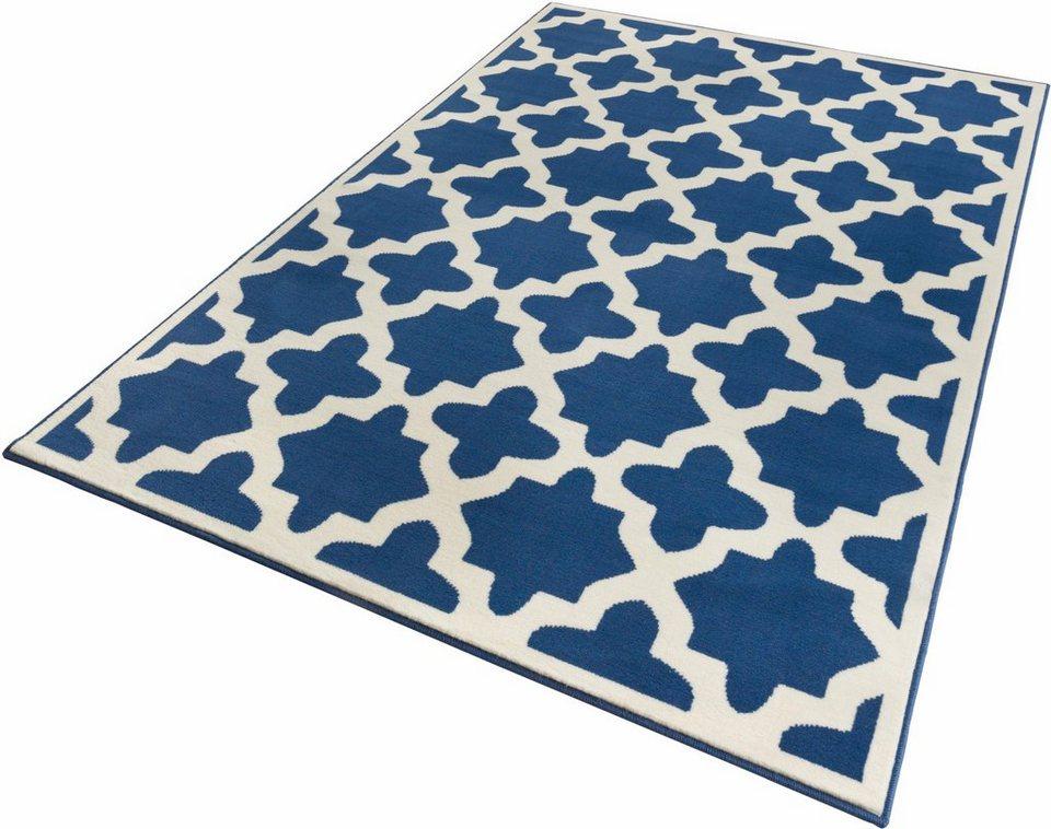 Teppich, Zala Living, »Noble«, gewebt in blau creme