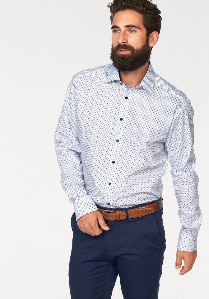 Bruno Banani Businesshemd in weiß-bedruckt