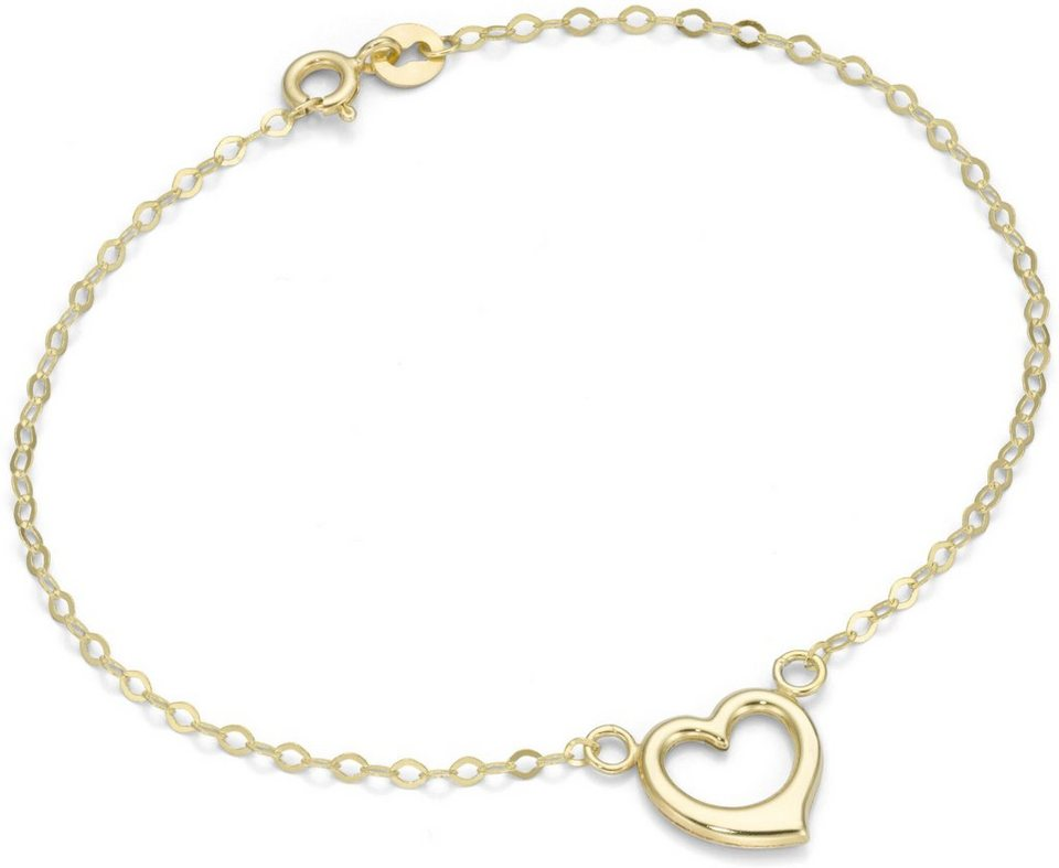 Firetti Armband »Herz« in Gelbgold 375