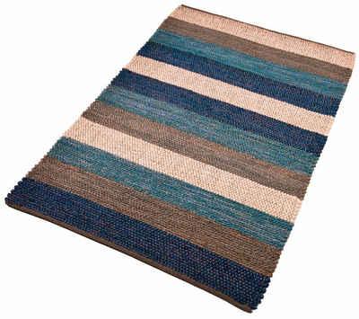Teppich »Hanf Stripe«, Home affaire, rechteckig, Höhe 5 mm, Wohnzimmer