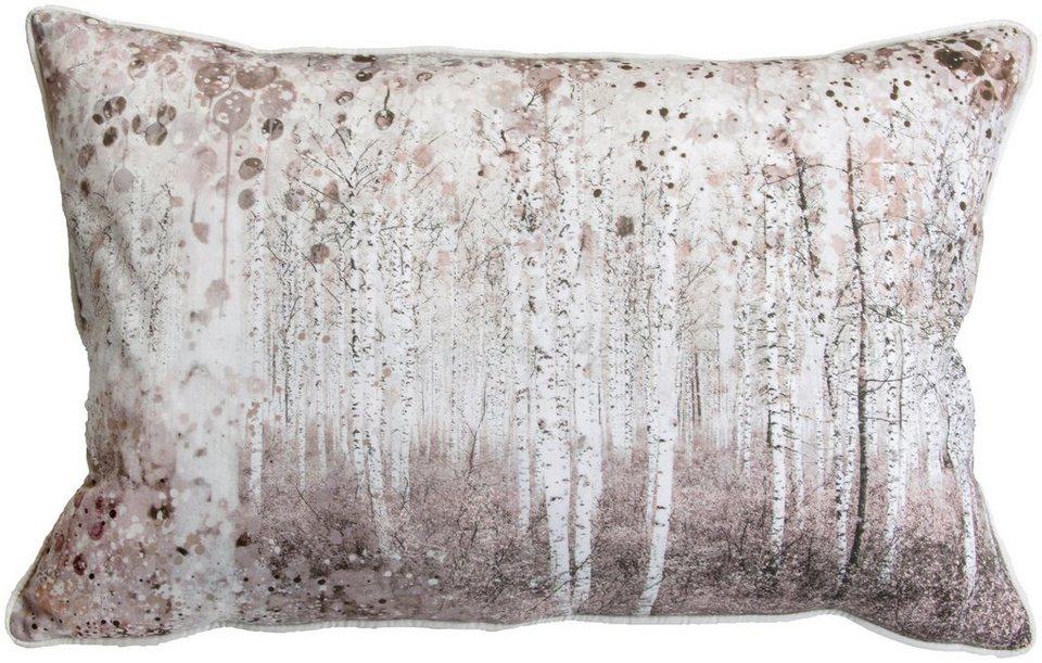 Zierkissen »Watercolour Woodland« in bunt