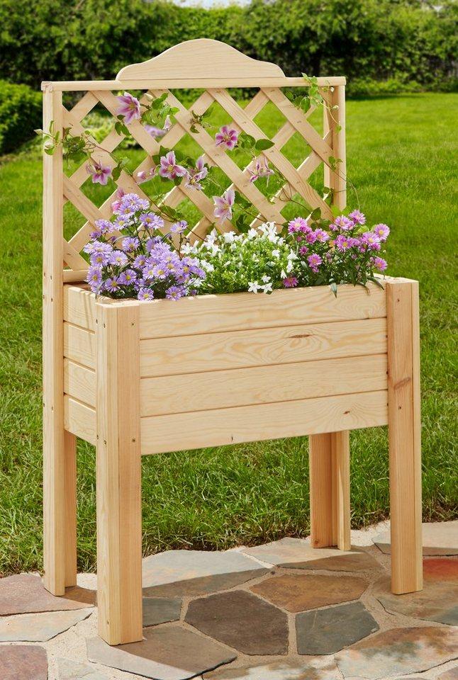 pflanzkasten mit rankgitter pflanzkasten mit rankgitter g nstig ab 22 62 bestellen. Black Bedroom Furniture Sets. Home Design Ideas
