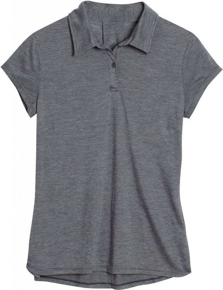 Icebreaker T-Shirt »Sphere SS Polo Women« in grau