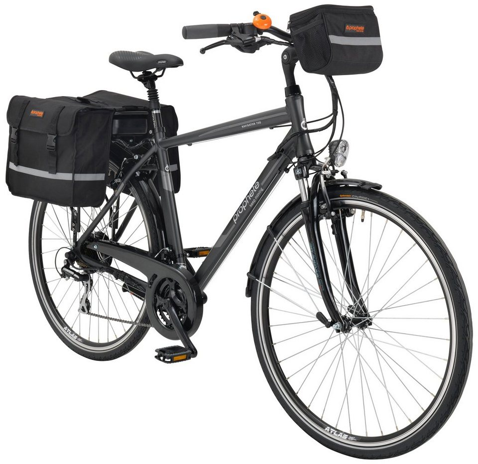 E-Bike Trekking Herren »Navigator 700«, 28 Zoll, 24 Gang, Heckmotor, 374 Wh in grau