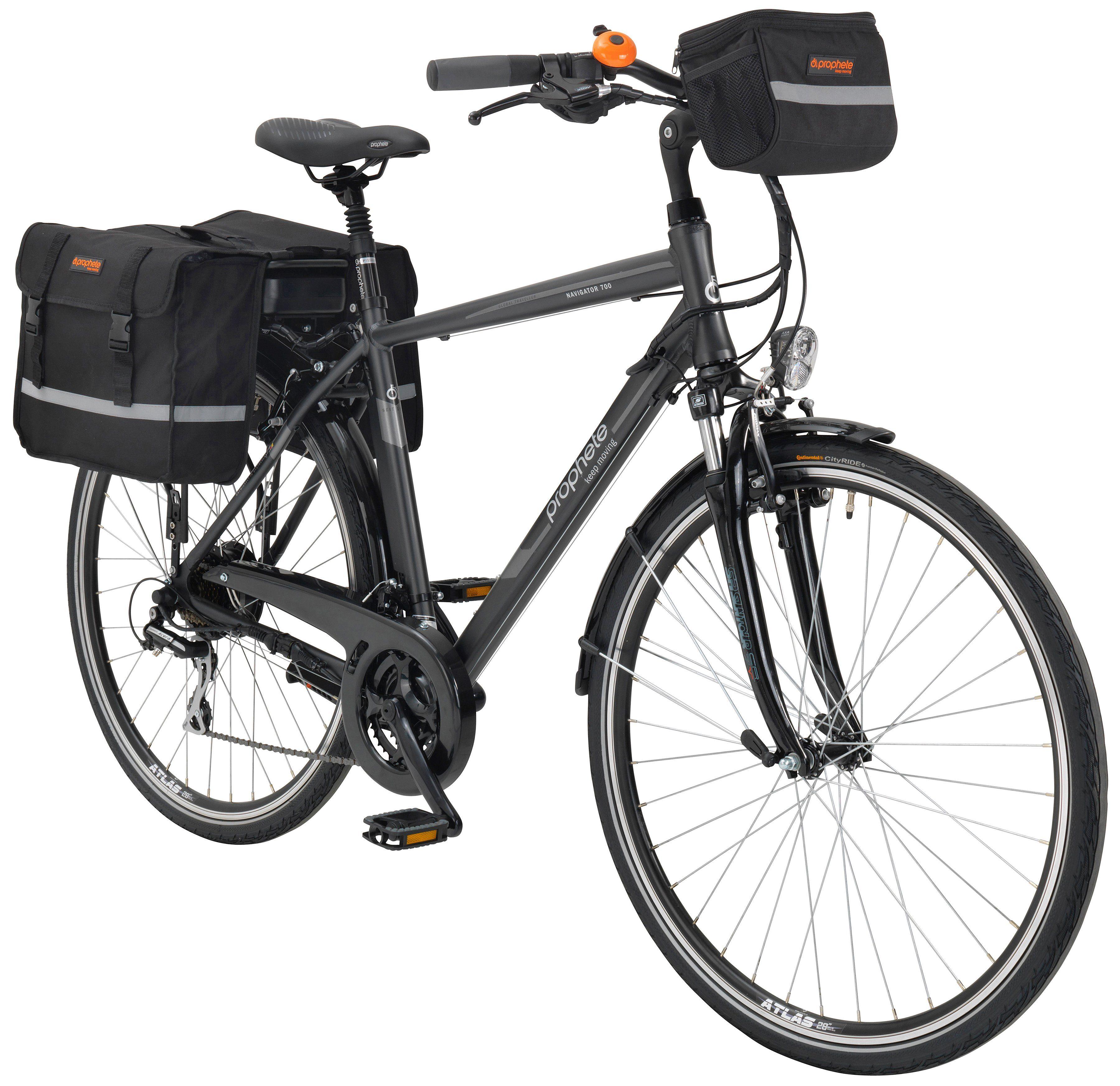 Prophete E-Bike Trekking Herren »Navigator 700«, 28 Zoll, 24 Gang, Heckmotor, 374 Wh