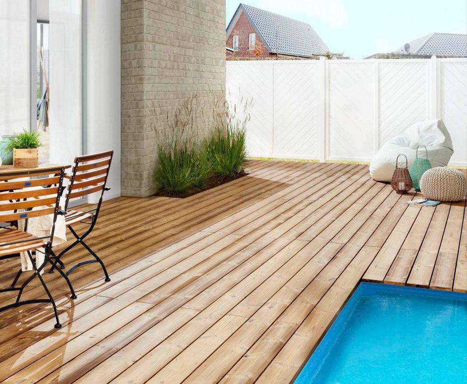 holz terrassendielen thermo kiefer 7 64 m otto. Black Bedroom Furniture Sets. Home Design Ideas
