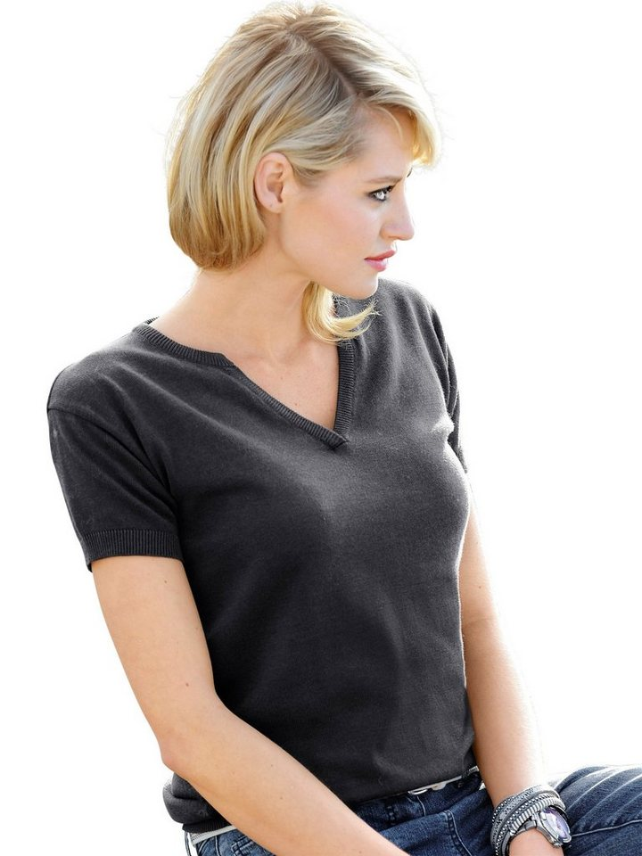 Alba Moda Pullover in grau