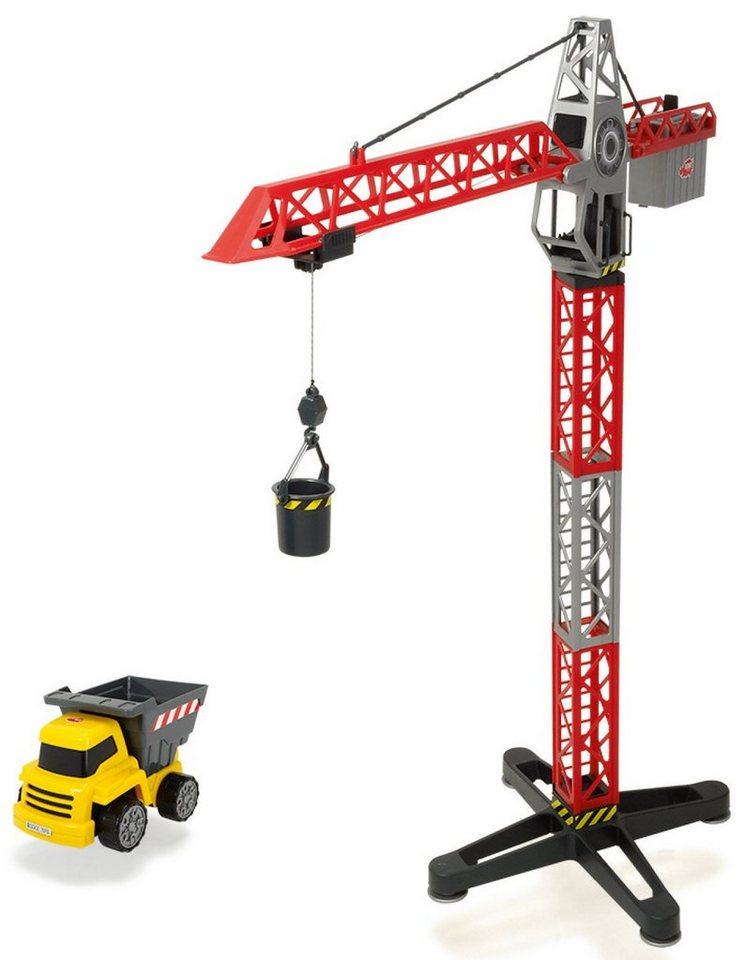 Dickie Spielzeugkran mit Seilwinde, »Building Team« in rot/silber