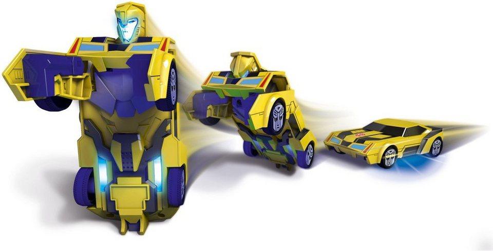 Dickie Toys Spielzeugauto mit Licht und Sound, »Transformers Robot Warrior Bumblebee« in gelb
