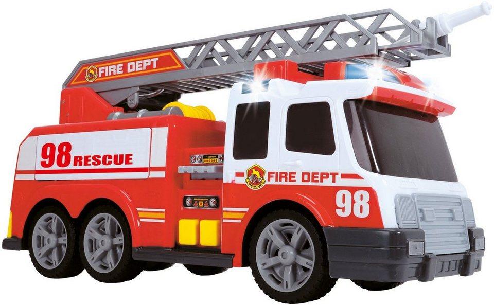 Dickie Feuerwehrauto mit Licht, Sound und Spritzfunktion, »Fire Engine« in rot