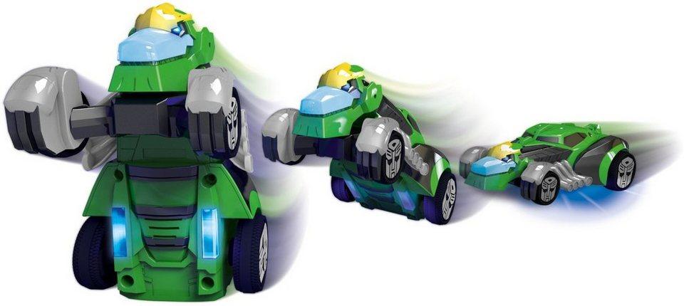 Dickie Toys Spielzeugauto mit Licht und Sound, »Transformers Robot Warrior Grimlock« in grün
