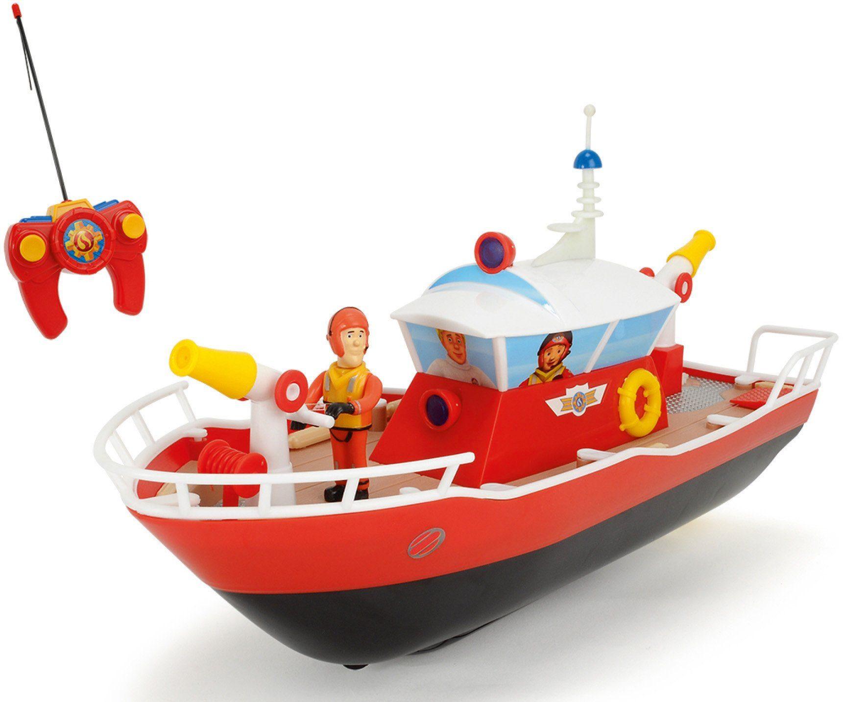 Dickie Toys RC Boot mit Wasserkanone und Licht, »Feuerwehrmann Sam Titan 27 MHz 1:16«