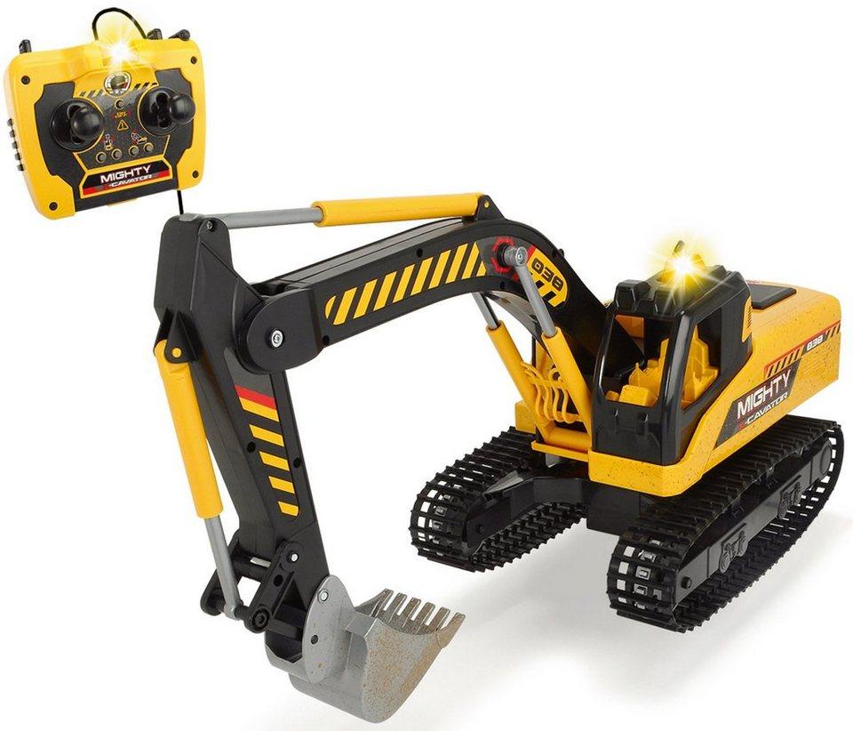 Dickie Toys Kabelgesteuerter Bagger, »Mighty Excavator« in gelb/schwarz