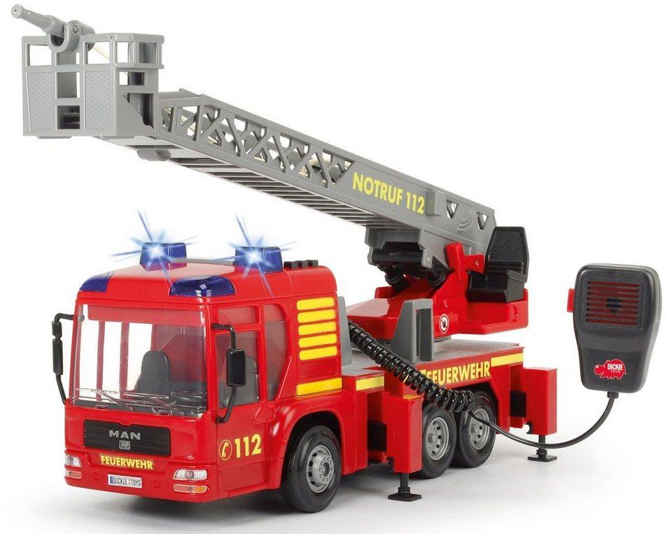 Dickie Spiellöschfahrzeug mit Wasserspritze, »Fire Hero« in rot