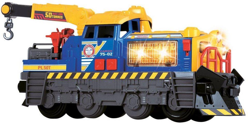 Dickie Toys Spielzeuglok mit Licht und Sound, »Action Series Lokomotive« in gelb/blau