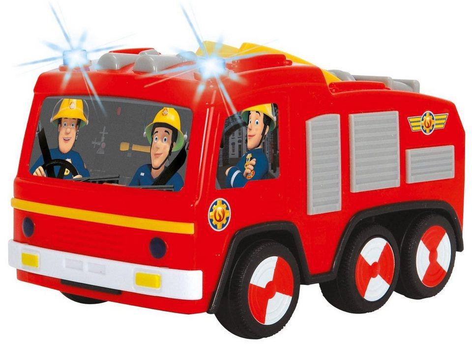 Dickie Feuerwehrauto mit Licht, »Feuerwehrmann Sam Non Fall Jupiter« in rot