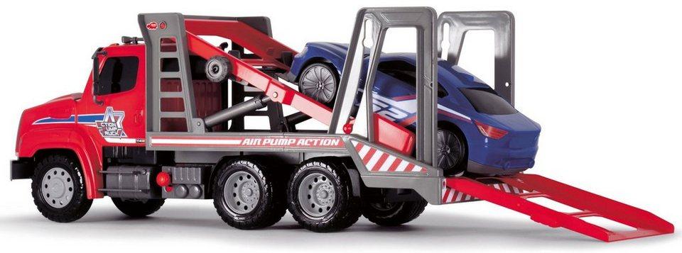 Dickie Spielzeug LKW, »Air Pump Car Transporter« in rot/weiß