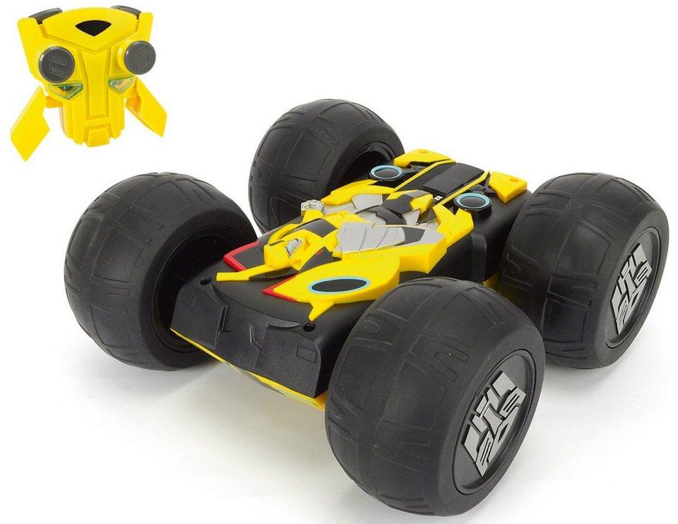 Dickie Toys RC Komplett Set, »Flip N Race Bumblebee 2,4 GHz 1:16« in gelb/schwarz