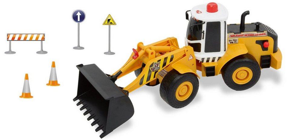 Dickie Spielzeug Radlader, »Air Pump Loader« in gelb