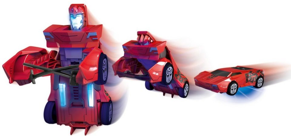 Dickie Toys Spielzeugauto mit Licht und Sound, »Transformers Robot Warrior Sideswipe« in rot