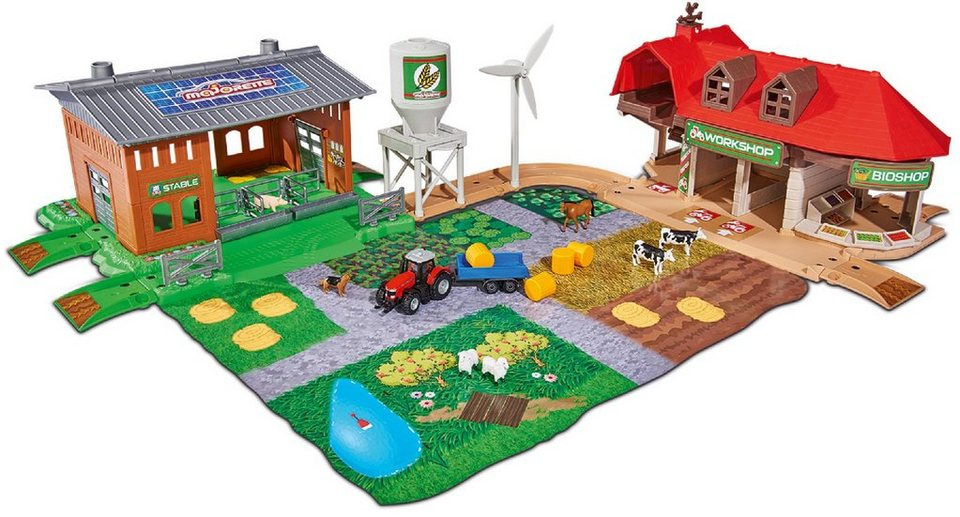 Majorette spielzeug bauernhof creatix farm big playset