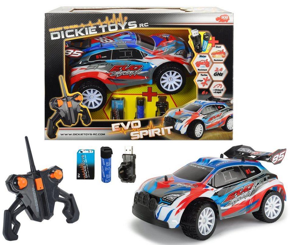 Dickie Toys RC Komplett Set, »Evo Spirit 2,4 GHz 1:16« in blau/rot/weiß