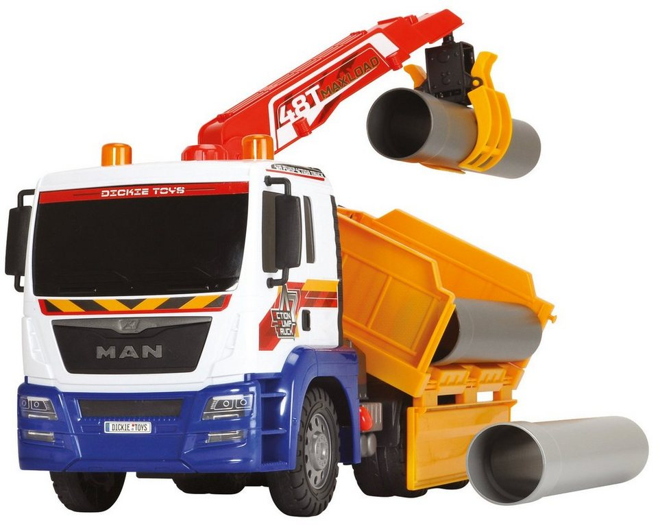 Dickie Toys LKW, »Air Pump Utility Truck« in weiß/gelb