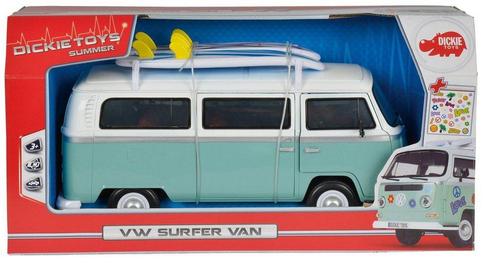 Dickie Toys Spielzeugauto, »Surfer Van« in weiß/türkis
