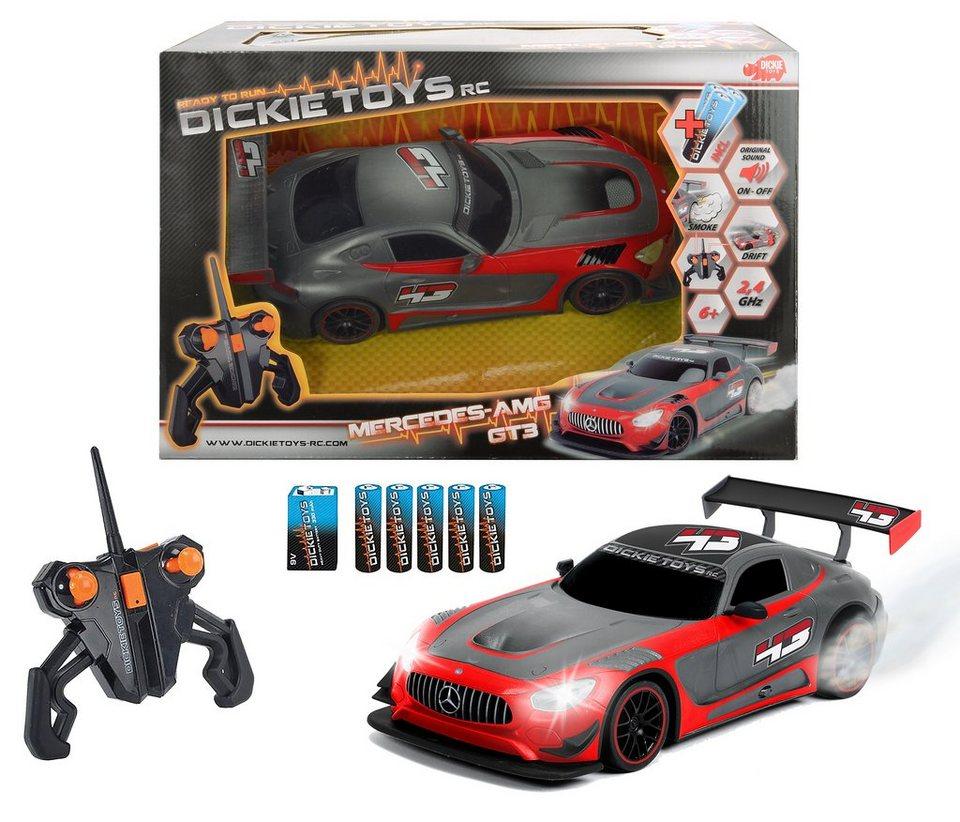 Dickie Toys RC Komplett Set, »Mercedes AMG GT3 2,4 GHz 1:16 Grau« in grau/rot
