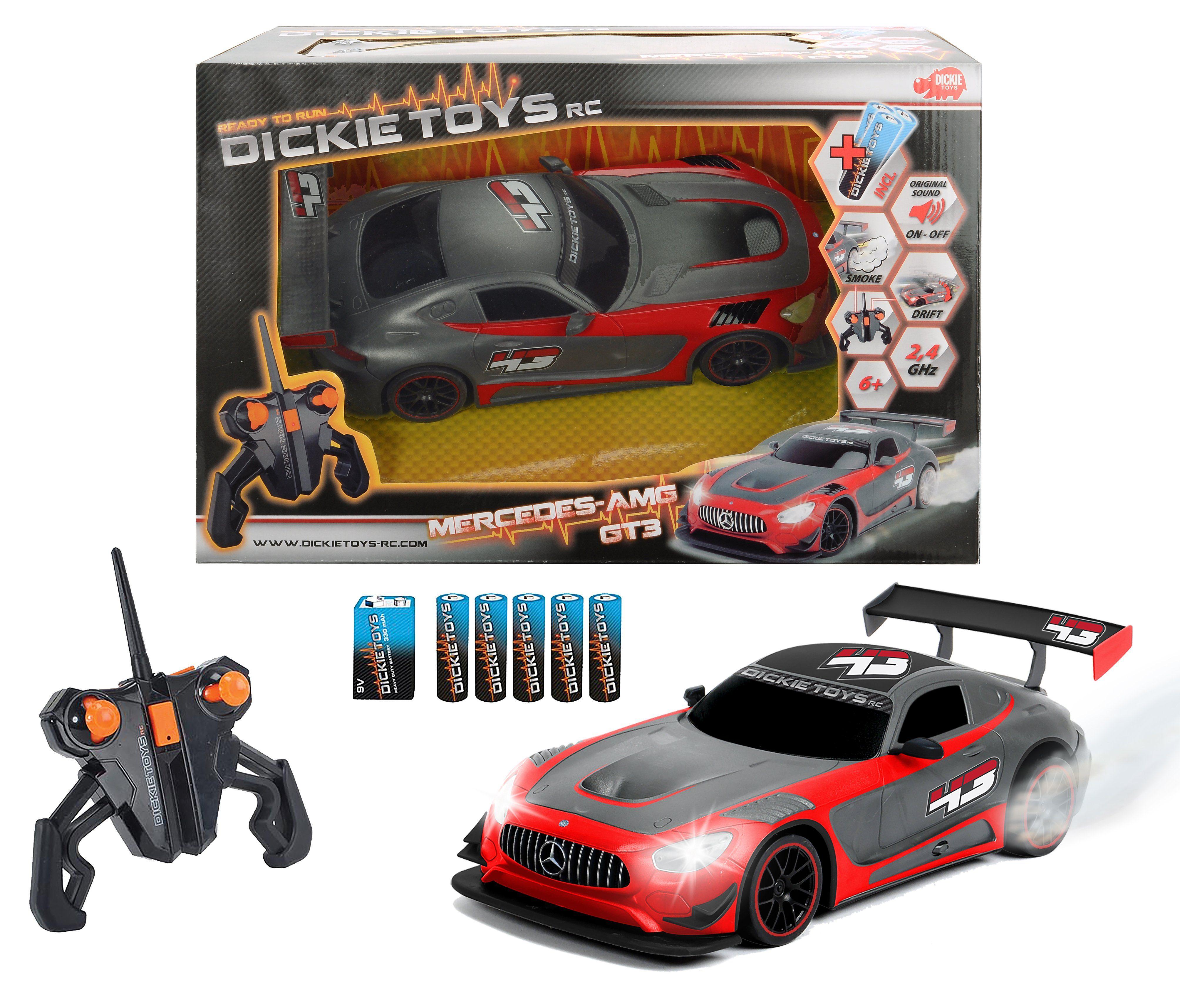 Dickie Toys RC Komplett Set, »Mercedes AMG GT3 2,4 GHz 1:16 Grau«