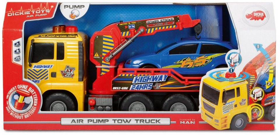Dickie Spielzeug LKW, »Air Pump Tow Truck« in gelb/rot