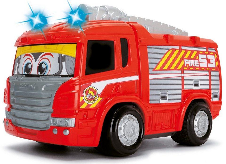 Dickie RC Feuerwehrauto mit Licht und Sound, »Happy Scania Fire Engine« in rot/grau
